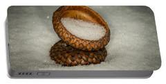 Frozen Acorn Cupule Portable Battery Charger by Paul Freidlund