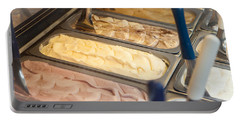 Frozen Gelato On Display Portable Battery Charger