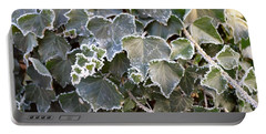 Portable Battery Charger featuring the painting Frozen Hedera Helix 2 by Felicia Tica