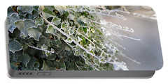 Portable Battery Charger featuring the painting Frozen Hedera Helix by Felicia Tica