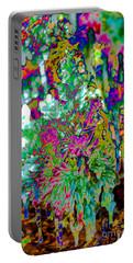 Portable Battery Charger featuring the digital art Frozen Juniper by Mae Wertz