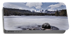 Portable Battery Charger featuring the photograph Frozen Lake by Mae Wertz