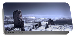 Frozen Landscape Portable Battery Charger by Andrea Mazzocchetti