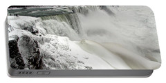 Frozen Niagara And Bridal Veil Falls Portable Battery Charger by Rose Santuci-Sofranko