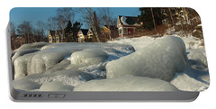 Portable Battery Charger featuring the photograph Frozen Surf by James Peterson