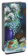 Fruit And Flowers Still Life Portable Battery Charger