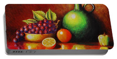 Portable Battery Charger featuring the painting Fruit And Jug by Gene Gregory