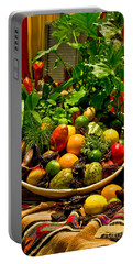 Portable Battery Charger featuring the photograph Fruit And Wine by Mae Wertz