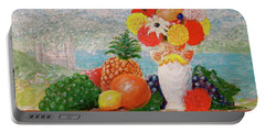 Fruit Flowers And Castle Portable Battery Charger