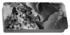 Fruit -grapes In Black And White - Luther Fine Art Portable Battery Charger
