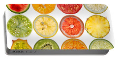 Fruit Market Portable Battery Charger by Steve Gadomski