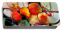 Fruit On A Dish Portable Battery Charger by Michelle Abrams