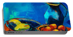 Portable Battery Charger featuring the painting Fruit Palette by Elise Palmigiani