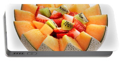 Fruit Salad Portable Battery Charger by Johan Swanepoel