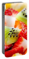 Fruit Salad Macro Portable Battery Charger by Johan Swanepoel