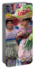 Fruit Sellers In Antigua Guatemala Portable Battery Charger by David Smith