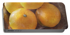 Fruit Still Life Oranges And Antique Silver Portable Battery Charger