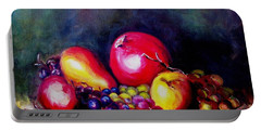 Portable Battery Charger featuring the painting Fruitfulness by Hazel Holland