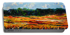 Portable Battery Charger featuring the painting Fruition by Meaghan Troup