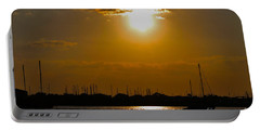 Portable Battery Charger featuring the photograph Ft. Pierce Florida Docks At Dusk by Janice Rae Pariza