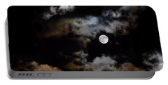 Full Moon After The Storm Portable Battery Charger
