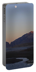 Full Moon And Buffalo Bill Reservoir   #1769 Portable Battery Charger by J L Woody Wooden