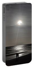 Full Moon Over Daytona Beach Portable Battery Charger