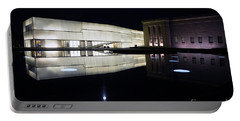 Full Moon Over Nelson Atkins Museum In Kansas City Portable Battery Charger by Catherine Sherman