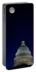 Full Moon Over Us Capitol Portable Battery Charger