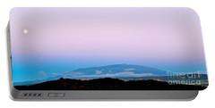 Portable Battery Charger featuring the photograph Full Moon Rising Over Mauna Kea Kona Side by Lehua Pekelo-Stearns