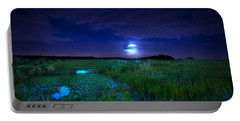 Full Moons And Fireflies Portable Battery Charger
