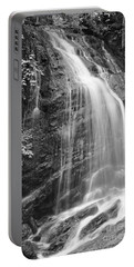 Fuller Falls Waterfall Black And White Portable Battery Charger