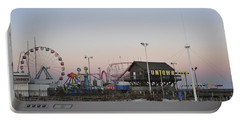 Fun At The Shore Seaside Park New Jersey Portable Battery Charger by Terry DeLuco