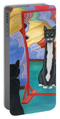 Fun House Skinny Cat Portable Battery Charger