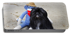 Funky Monkey And Sweet Shih Tzu Portable Battery Charger