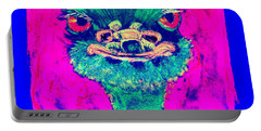 Funky Ostrich Cool Dude Art Prints Portable Battery Charger