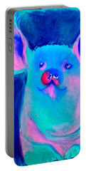 Funky Piggy Blue Portable Battery Charger