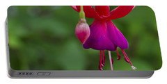 Fuschia Flower Portable Battery Charger