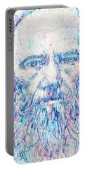 Fyodor Dostoyevsky / Colored Pens Portrait Portable Battery Charger by Fabrizio Cassetta