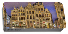 Gabled Buildings In Grand Place Portable Battery Charger
