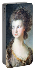 Gainsborough's The Hon. Mrs. Thomas Graham Up Close Portable Battery Charger by Cora Wandel