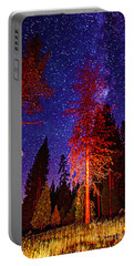 Portable Battery Charger featuring the photograph Galaxy Stars By The Campfire by Jerry Cowart