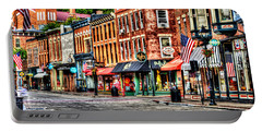 Galena Main Street Early Summer Morning Portable Battery Charger