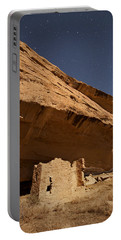 Gallo Cliff Dwelling Under The Bright Moon Portable Battery Charger