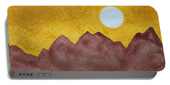 Gallup Original Painting Portable Battery Charger by Sol Luckman