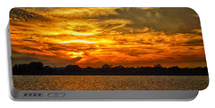 Galveston Island Sunset Dsc02805 Portable Battery Charger by Greg Kluempers