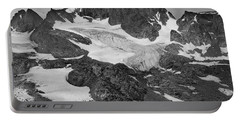 509427-bw-gannett Peak And Gooseneck Glacier, Wind Rivers Portable Battery Charger