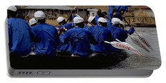 Portable Battery Charger featuring the photograph Ganvie - Lake Nokoue by Travel Pics
