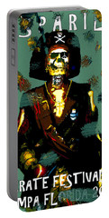 Gasparilla Pirate Fest 2015 Full Work Portable Battery Charger by David Lee Thompson