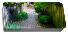 Garden Alley Portable Battery Charger by Brian Wallace